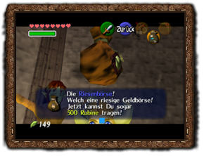 Ocarina of Time Riesige Geldbörse
